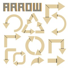 arrow sign, cardboard theme
