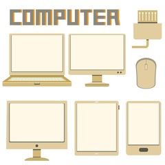computer icons, cardboard theme