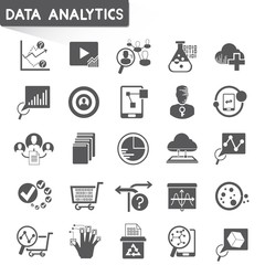 web analytics icons, data analytics icons