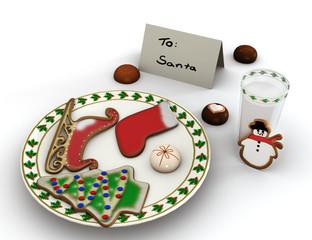 Dessert for Santa Claus.
