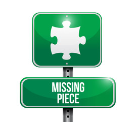 missing piece puzzle sign illustration design