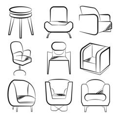 sketch chair set