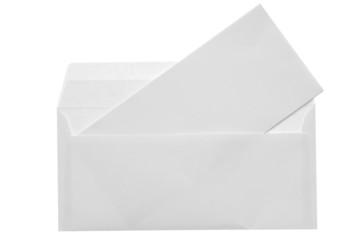 Blank opened envelope E65 size