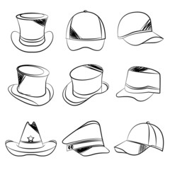 sketch hat icons