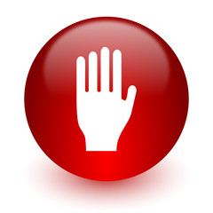 stop red computer icon on white background