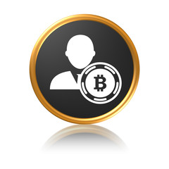 Bitcoin user - Gold icon