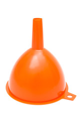 orange plastic funnel
