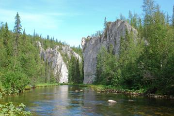 Rocks on the river Big Sarjuga.
