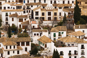 White houses of El Albayzin, Granada, Spain