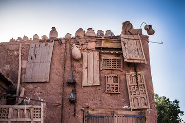funny pottery house in Ait Benhaddou, Morocco, Africa