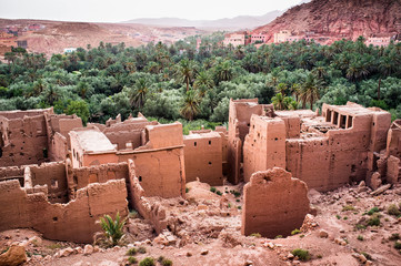 Old Casbah in Todgha (Todra) Gorge, Dades Valley (Valley of Thou