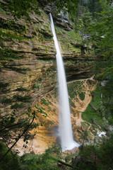 Lower Pericnik waterfall, Triglav National Park, Slovenia