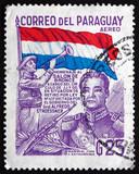 Postage stamp Paraguay 1978 Jose Felix Estigarribia, President poster
