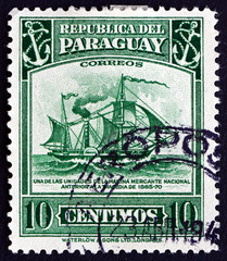 Postage stamp Paraguay 1945 Early Merchant Ship