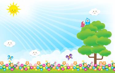 Flower background 004