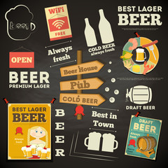 Beer Menu chalkboard design
