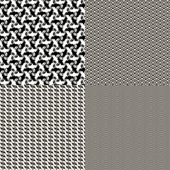 Set of seamless textures patterned