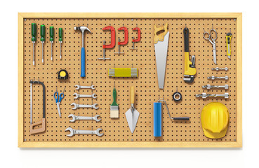 Tools on a Pegboard