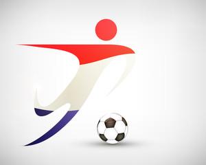 Silhouette Fußball Kroatien