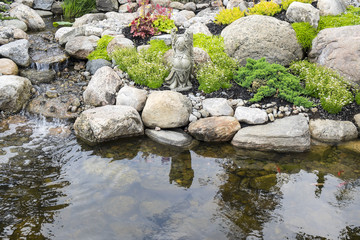 Tranquil Pond in a Garden
