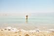Woman bathe at the Dead Sea