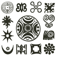 African traditional motifs