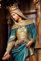 St. Elizabeth baroque sculpture details