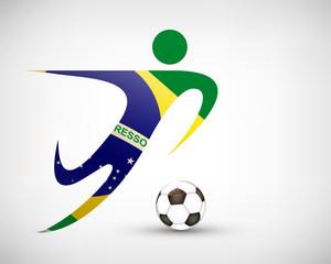 Silhouette Fußball Brasilien