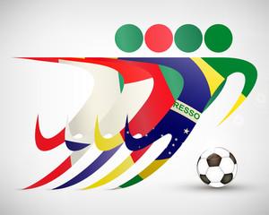 Silhouetten Fußball Gruppe A