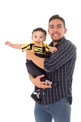 father and son hispanic