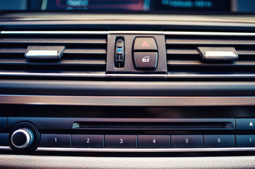 details and close-up of air conditioning and car ventilation