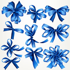 Collection of vector bows for design
