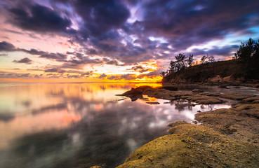 Sunset tips of borneo