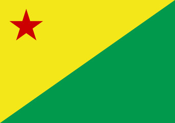 State flag of Acre in Brazil