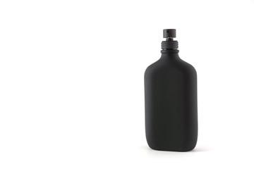 Black bottle isolated