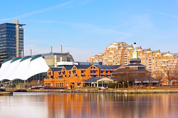Inner Harbor pier in Baltimore, Maryland