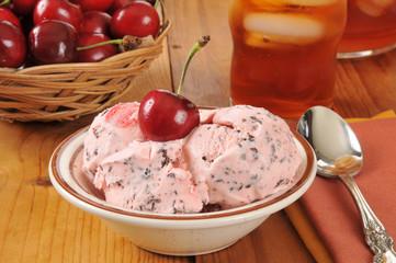 Cherry chocolate chip ice cream