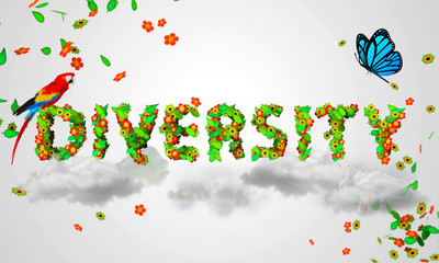 Diversity leaves particles 3D