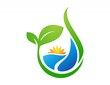 nature ecology logo,plant symbol,sun power,water drop icon - 66169153
