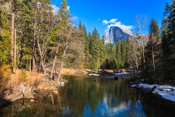 Half Dome Reflection in Yosemite