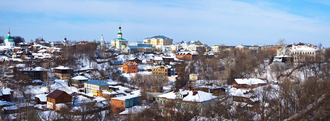 Panoramic view of historical district at Vladimir