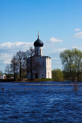 Church of the Intercession on River Nerl in flood
