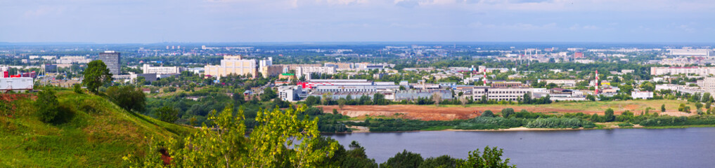 panoramic view of  industry district at Nizhny Novgorod