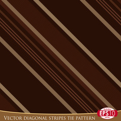 Vector diagonal stripes tie pattern G