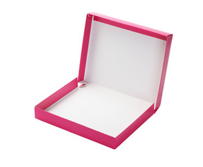 Open Pink Paper Box