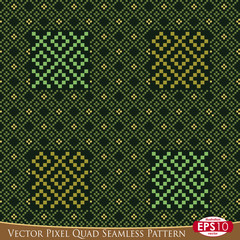 Vector Pixel Quad Seamless Pattern C
