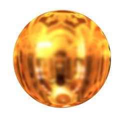 Gold Ball 3d render