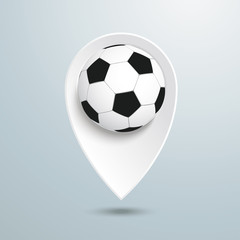 Location Marker Football