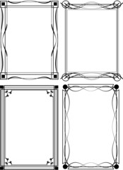 Four of ornate vector frames