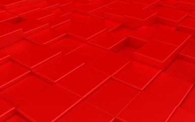 Abstract red carpeting urban background